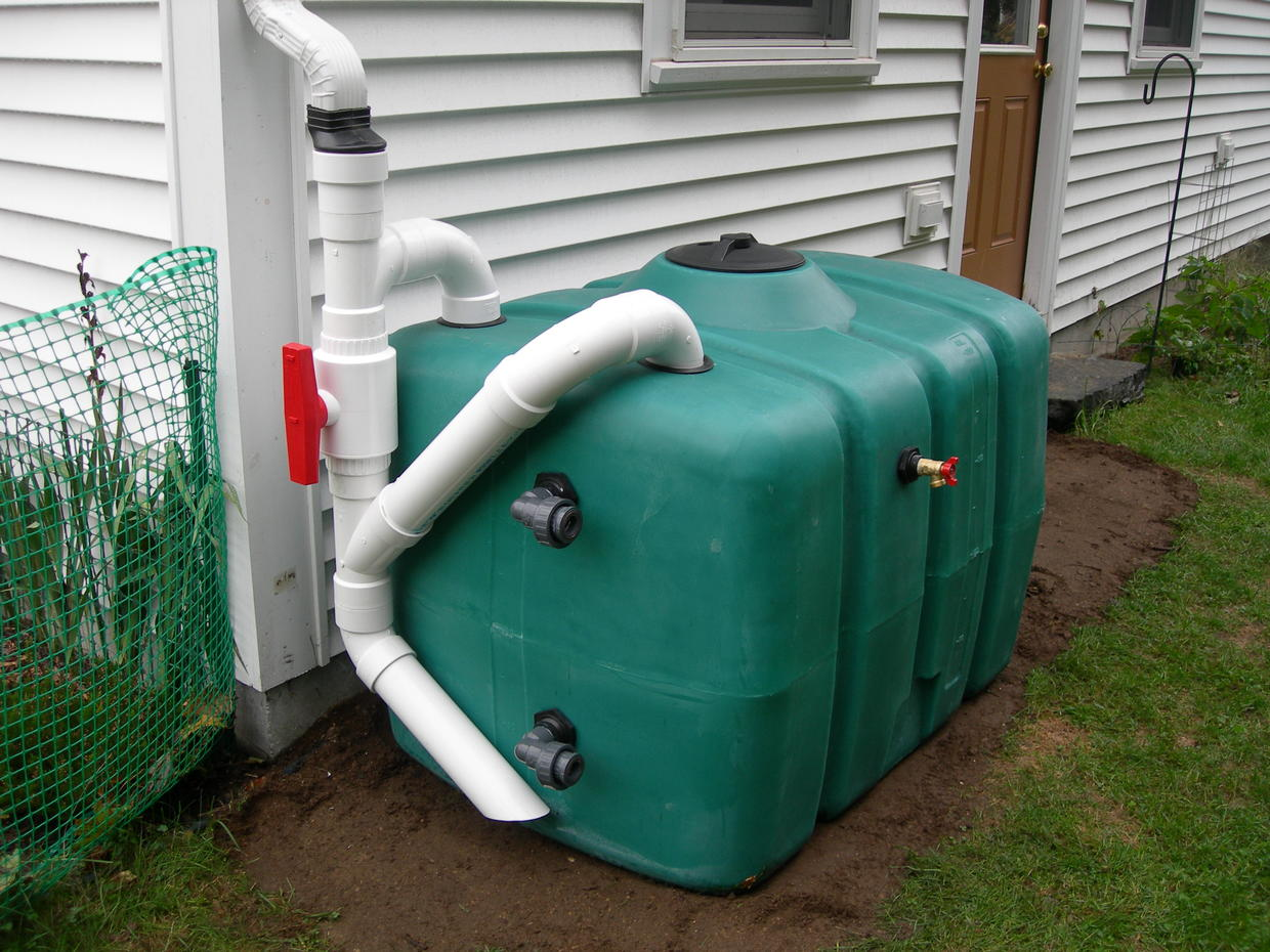 200-gallon harvesting tank