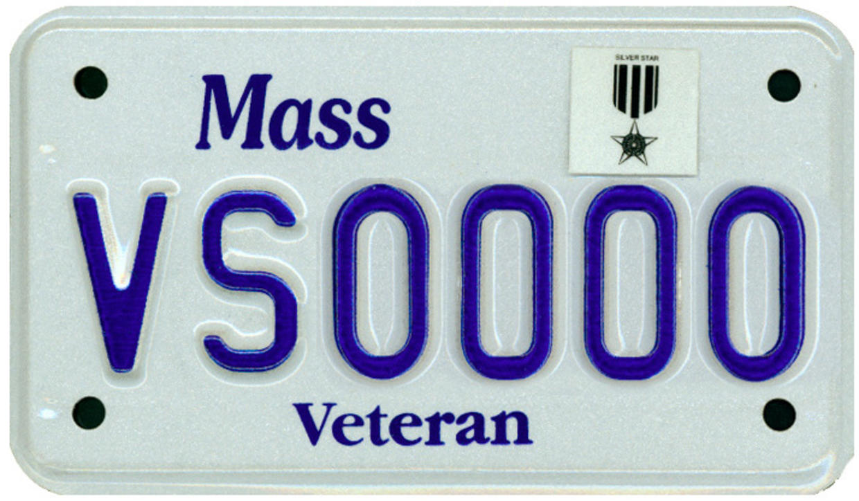 silver star motorcycle plate