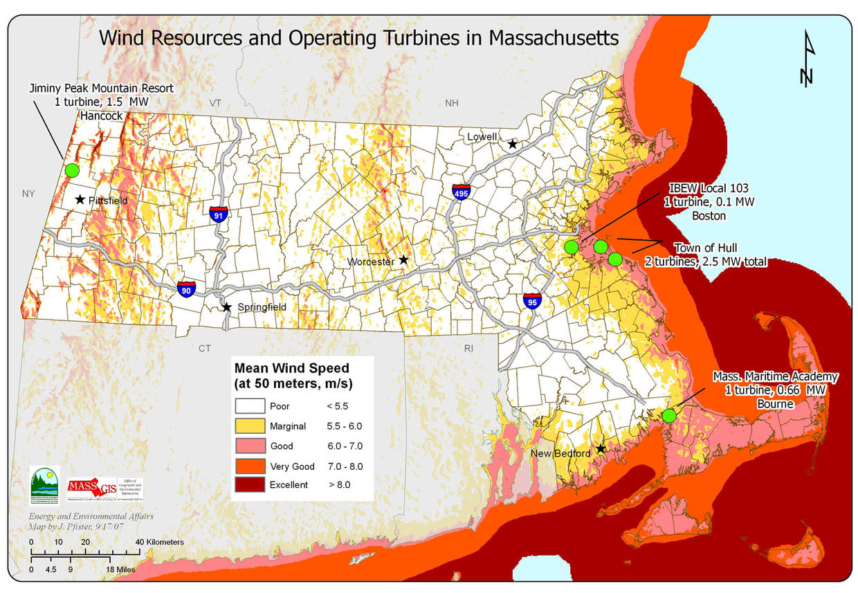Smart Growth Smart Energy Toolkit Modules Wind Power Massgov - Map-of-us-wind-farms
