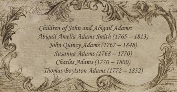 Children of John and Abigail Adams