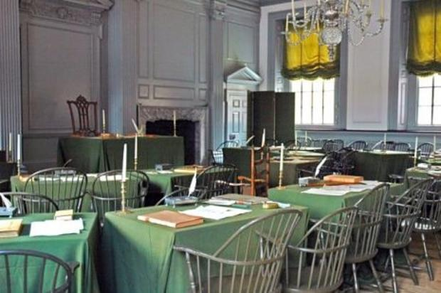 Assembly Room in Independence Hall, Philadelphia