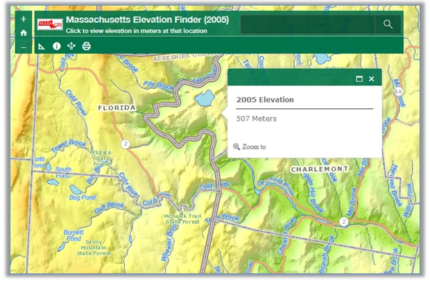 Massachusetts Elevation Finder (2005)