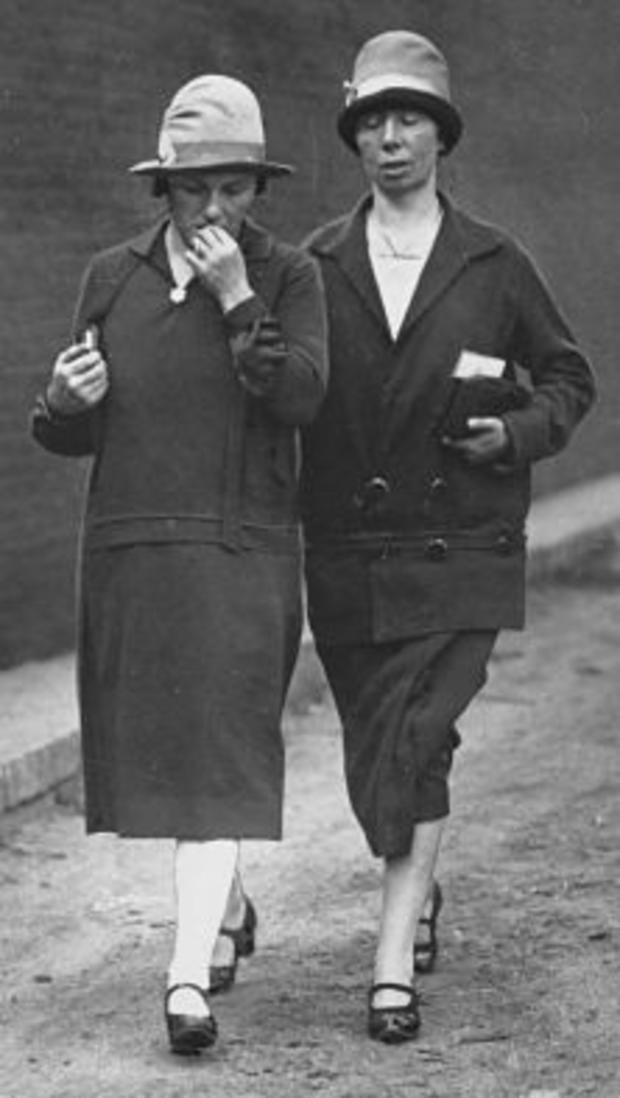 Rosa Sacco (wife) and Luigia Vanzetti (sister) after their last visit with Sacco and Vanzetti at the Charlestown prison, 8/22/27
