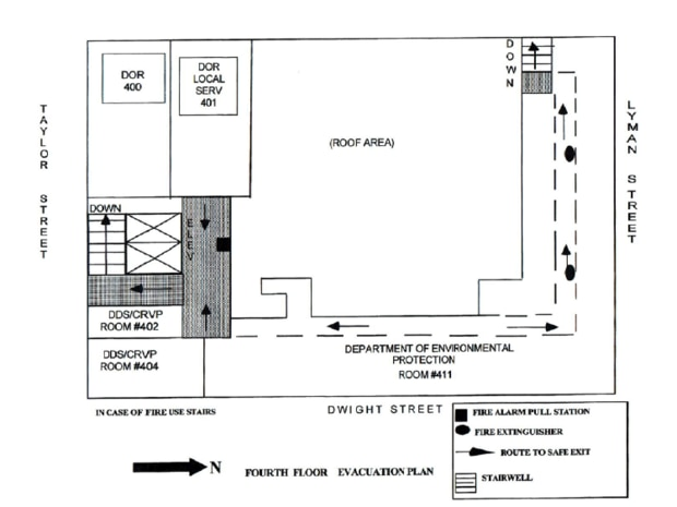 Springfield State Office Building Fire System Floor Evacuation Chart Mass Gov