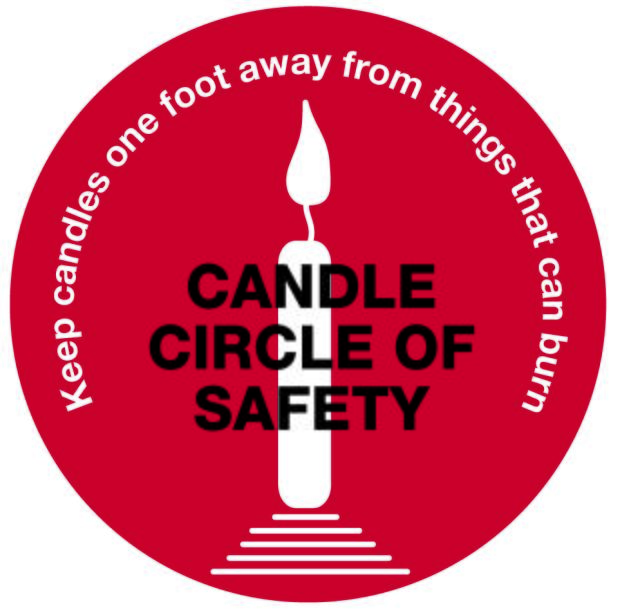 Simplified candle circle of safety logo