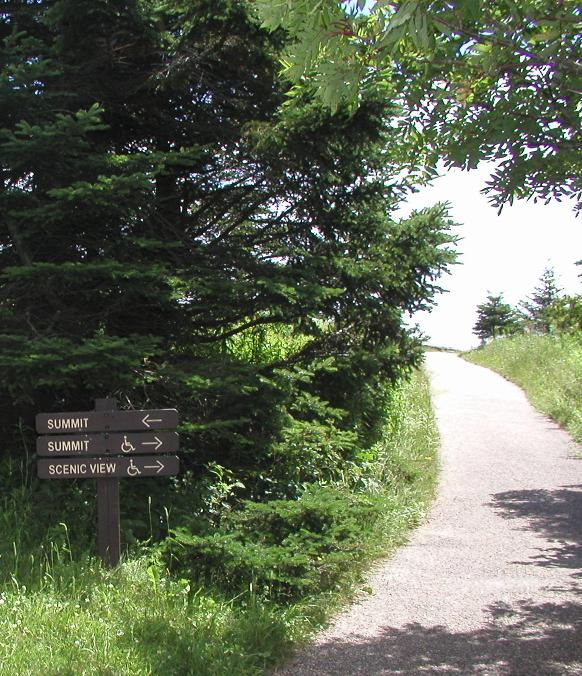 sign on trail