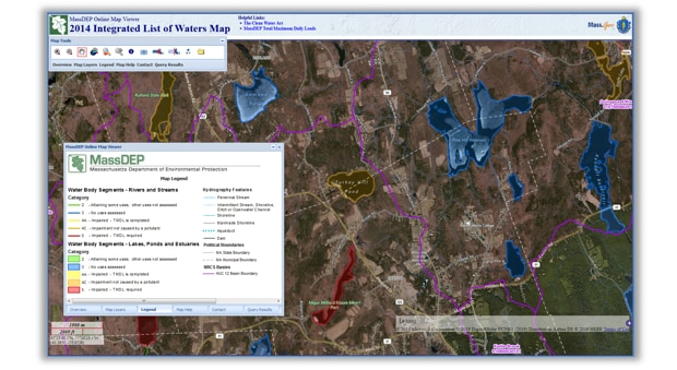 image of integrated lists of impaired waters