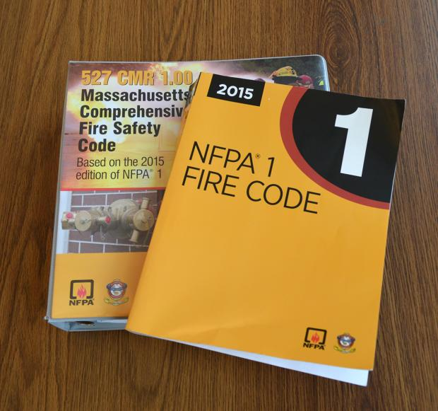 Picture of current state fire code books