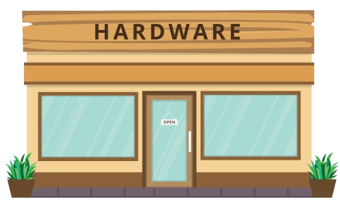 Image of a Hardware Store Front