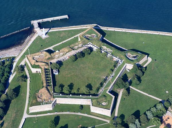 fort independence aerial view