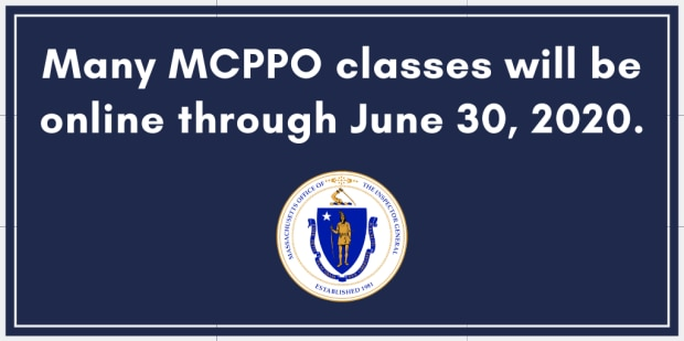 Many MCCPO classes are occurring online.