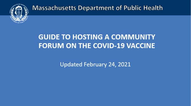 Guide to hosting a forum on the COVID-19 vaccine