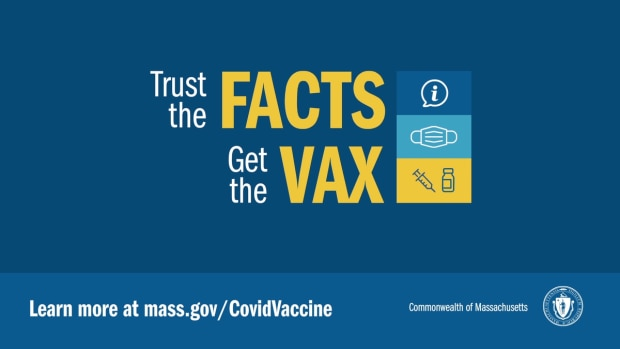 Trust the Facts - Get the Vax promotional page