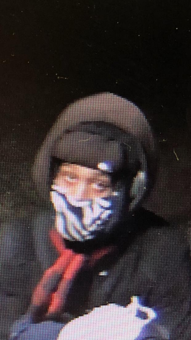 Close-up of person of interest in Brockton arson fires
