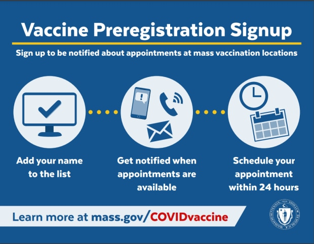COVID-19 Vaccine Preregistration Signup Flier