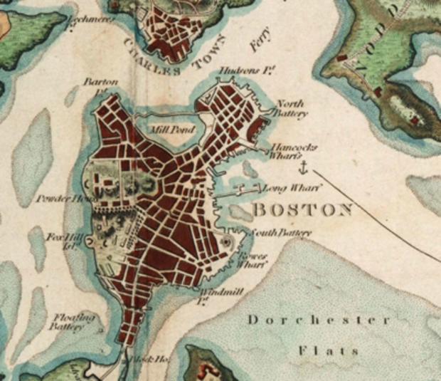 Boston and its environs in 1806. (Photo courtesy of the Norman B. Leventhal Map Center of the Boston Public Library.)