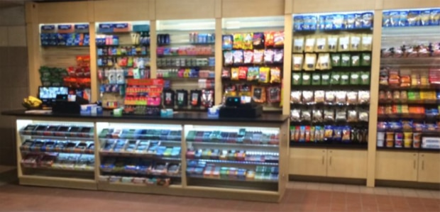 concession stand at an mbta station
