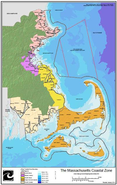 Massachusetts Coastal Zone and Regions