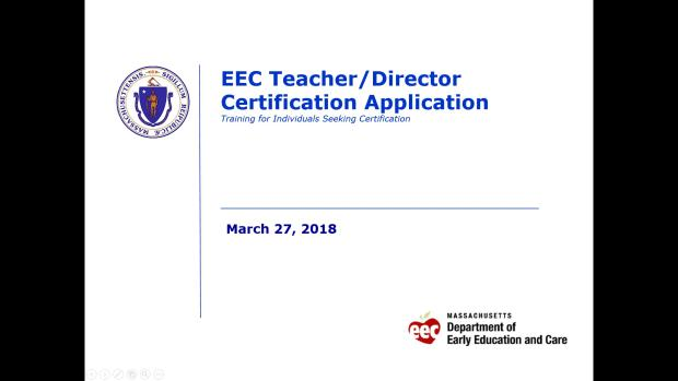 apply for eec professional qualifications certification | mass.gov