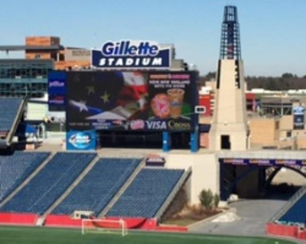 Gillette Stadium Tower overlooking the Field