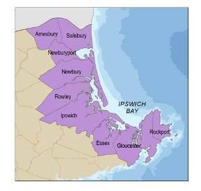 Amesbury, Salisbury, Newburyport, Newbury, Rowley, Ipswich, Essex, Gloucester and Rockport