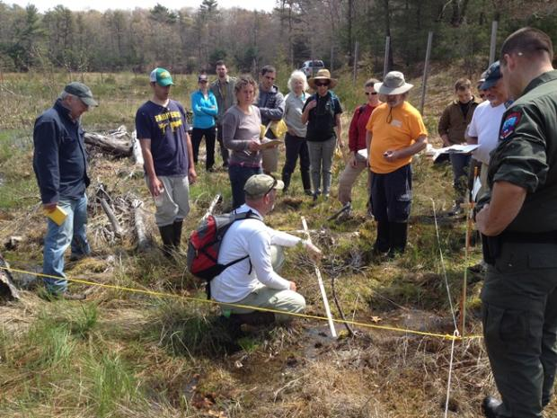 Training volunteers in 2015 at Eel River