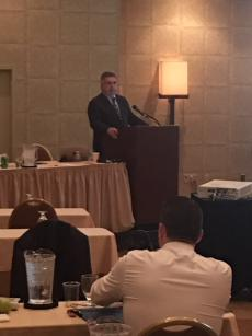 District Attorney Michael O'Keefe speaking at the 2018 Ethical Considerations Training Hosted by the Cape and Islands District Attorney's Office