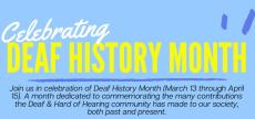 Deaf History Month Banner