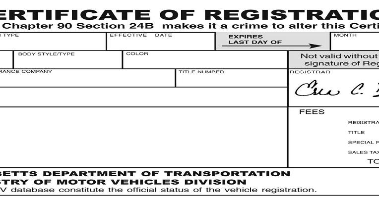 Vehicle Registration   Mass gov